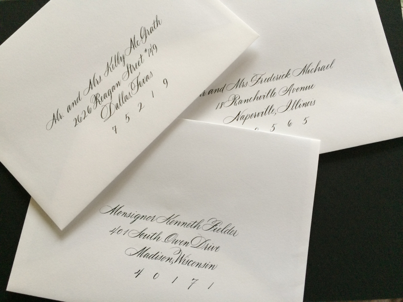 Chicago Calligrapher Wedding Envelope