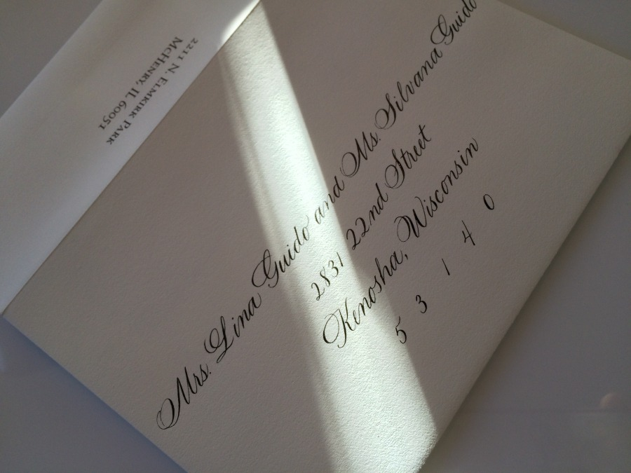 Envelope Addressing Chicago Calligrapher