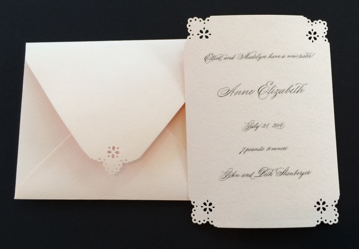 Chicago Calligrapher Birth Announcement
