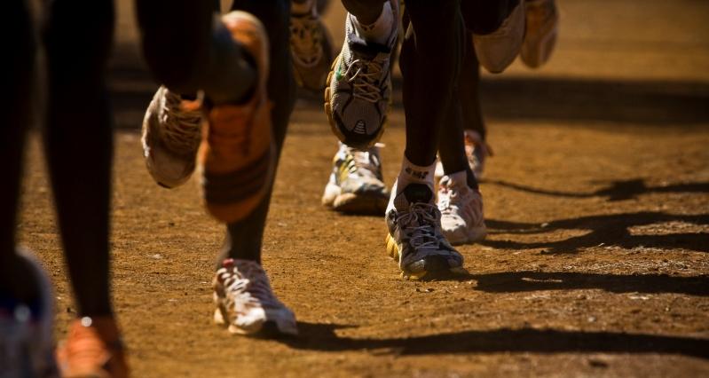 View Larger Image Desiree Linden Training In Iten Kenya
