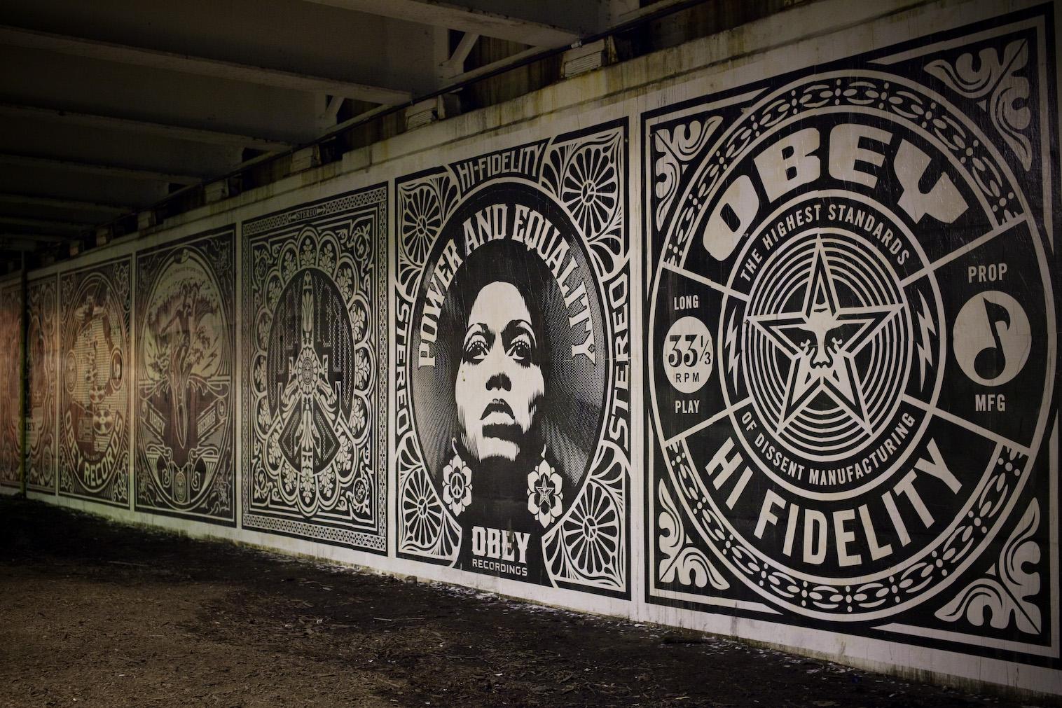 Obey 39 revolutions 39 murals in chicago postersandprints for Chicago mural artist