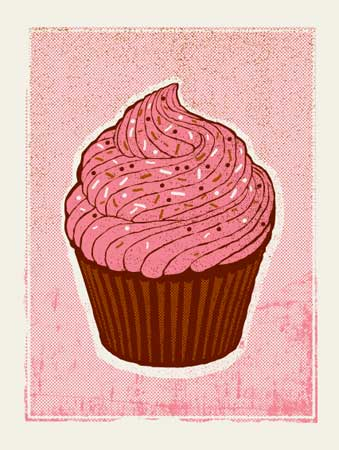 robert lee cupcake print available postersandprints a street