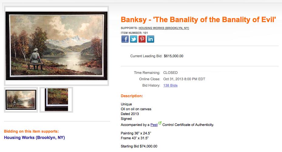 banality of evil banksy