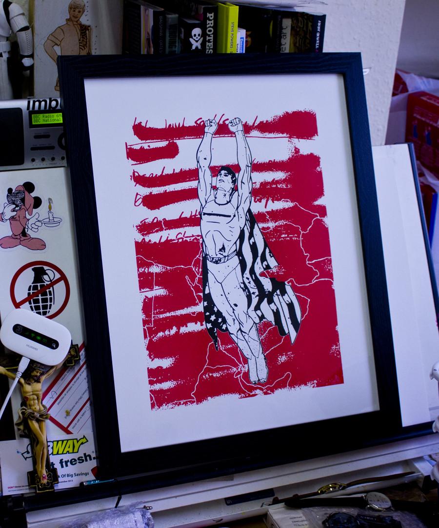 Liam Brazier 2 Art-Poster 30 x 40 cm Batman Superman