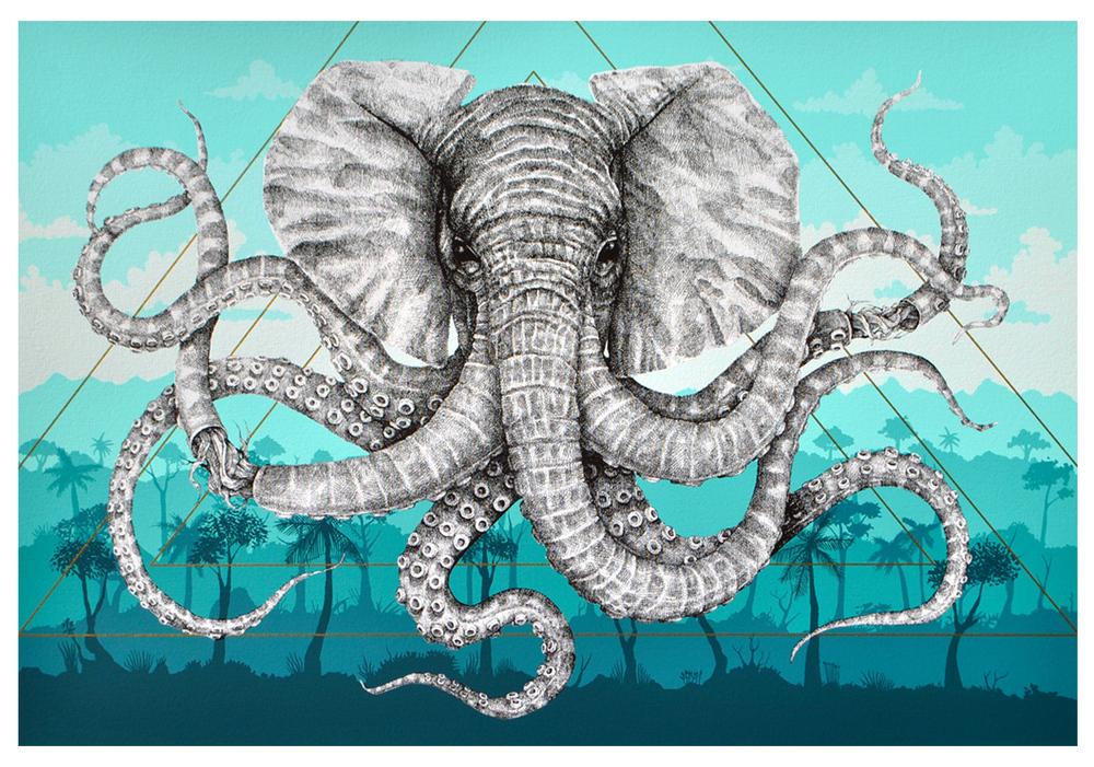 Alexis Diaz 'Octophant' Print Release Details