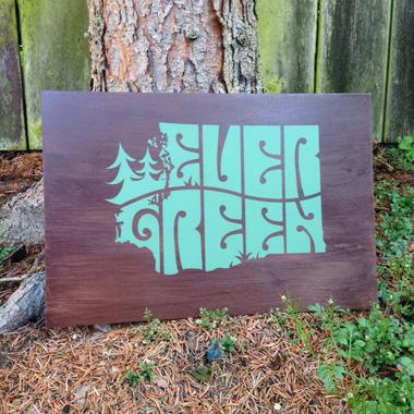 Medium 1 Colour Screen Print On Birch Size 18 X 12 Inches Edition Price 60