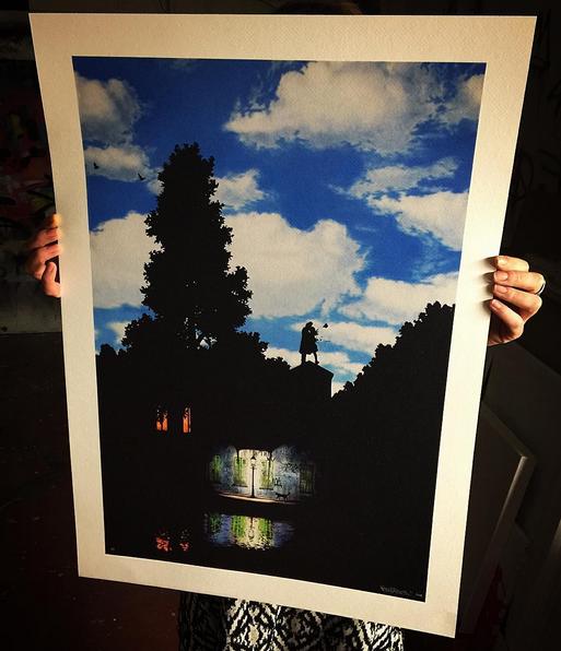 L Impero Delle Luci Magritte.Postersandprints A Street Art Graffiti Blog The Best Art