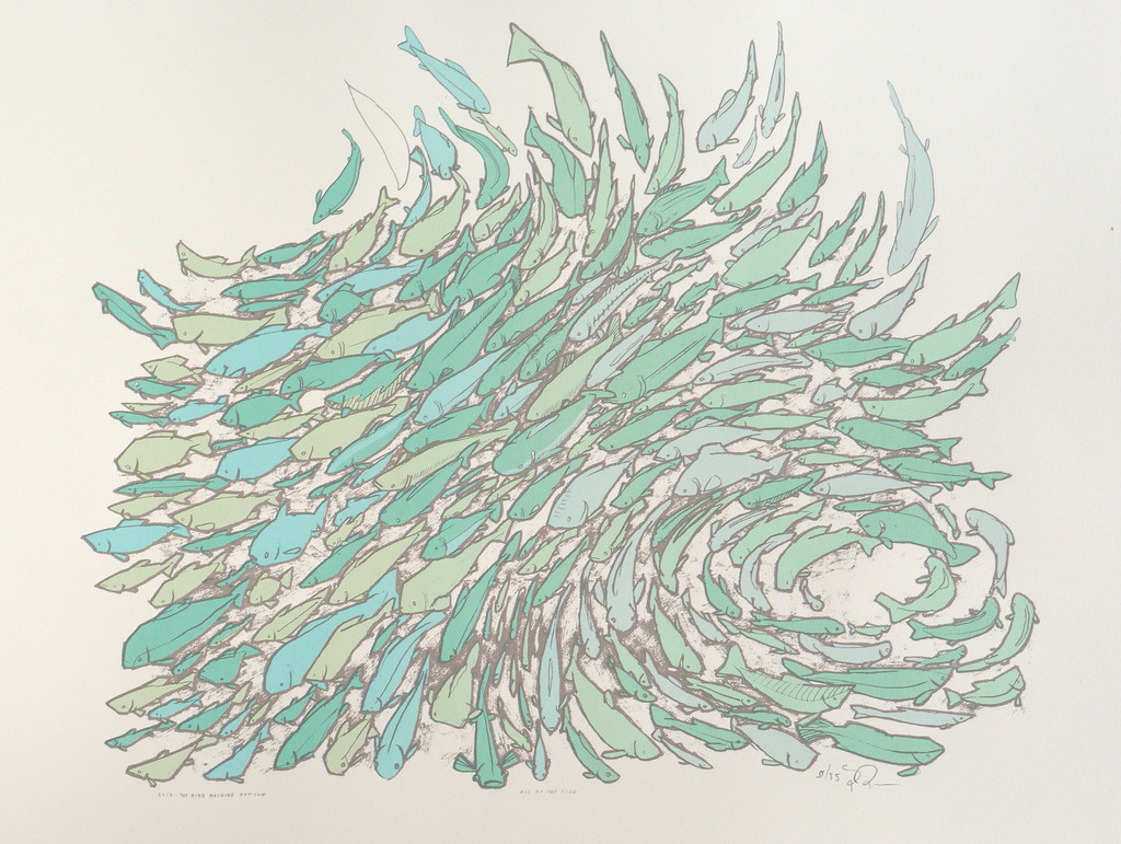 Jay ryan 39 all of the fish 39 print release details for Big fish screen printing