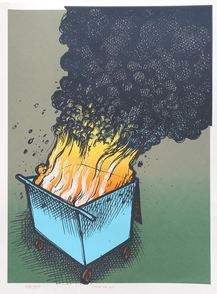 Jay Ryan Dumpster Fire 2017 Print Available