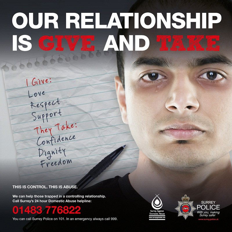 Surrey Police launch excellent #behindcloseddoors domestic abuse campaign (UK)