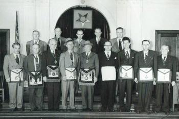 Officers of Gate City Lodge No 694  A.F. & A. M., c. 1951