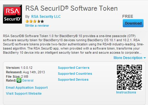 Rsa securid software token windows mobile - Bnb coin how does it work up