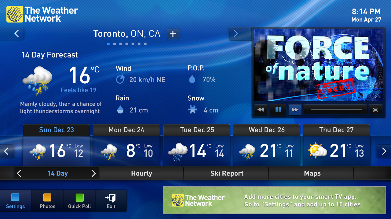 The Weather Network App For Iphone