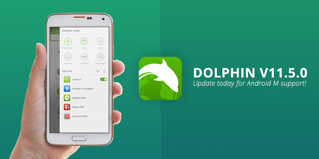 Dolphin browser on Android gets Marshmallow treatment