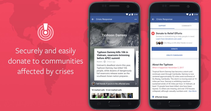 Facebook will now let you donate through its Crisis ...