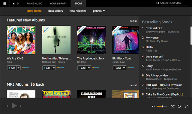 Amazon Prime Music Now Available To Canadian Subscribers