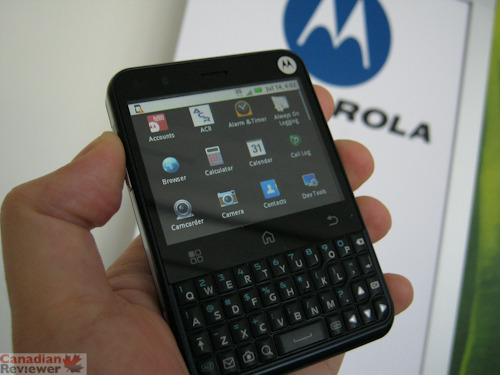 Telus Has Recently Released The Strangely Fascinating Motorola Charm This Is Another Android Powered Handset But It Isnt Purely A Touchscreen Device And