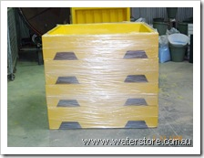 wrapped chemical pallet bases