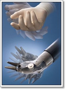 Robotic heart surgery hand simulator