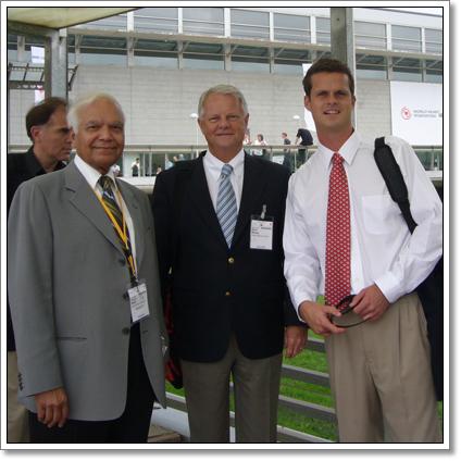 Dr. Aidan Raney, Dr. Aidan Raney, Dr. Pravin Shah in Barcelona