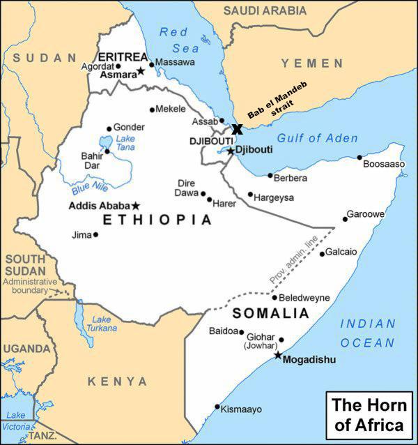 Sub Saharan Africa Map Djibouti | Joodsetegoeden