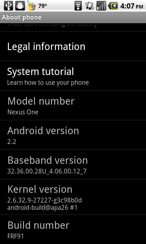 Google just released another Froyo build after the recent build FRF85, the  new FRF91. And again, we Nexus One users are getting the VIP treatment to  have ...