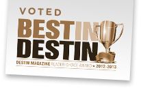 Voted Best in Destin 2012 - 2013