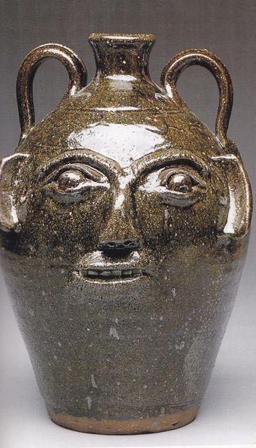 ceramic face pots  Matt Jones Pottery - Face Jugs