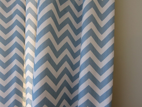 Blue And Orange Shower Curtain Blue and White Chevron Vase