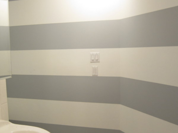 Bien Living Design   Chicago Interior Design   Bien Living Blog   Bathroom  Project, Parts 5   Striped Walls