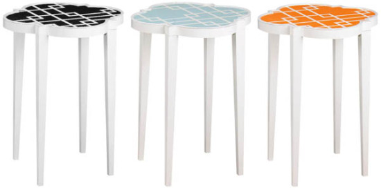 Tiny Tables Best With Orange Round Side Table Pictures