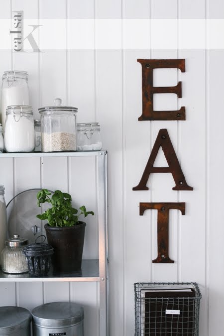 Source for Kitchen letters decoration