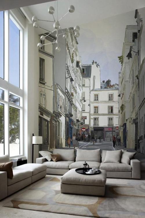 Bien Living Design - Chicago Interior Design - Bien Living Blog - Cityscape Wall  Murals