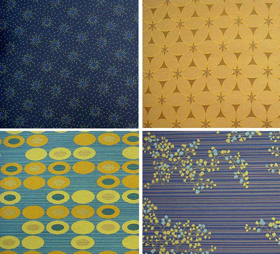 I love Knoll Textiles, and here are a few of my favorites. I can picture  these as punchy accent chairs!