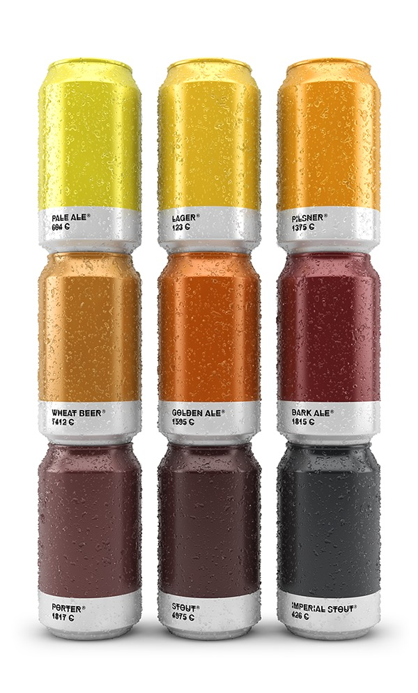 Beer Colors Cans Visualization Infographic