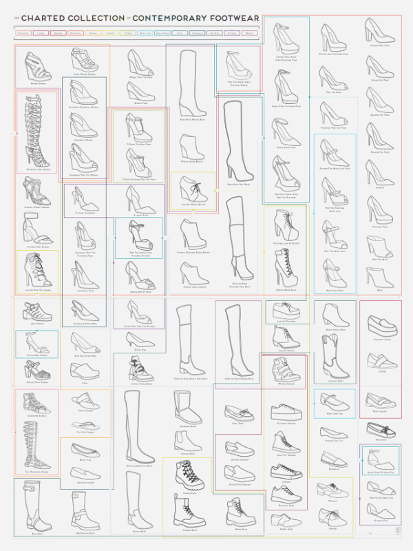 An Illustrated Guide To The Galaxy Of Women's Shoes infographic