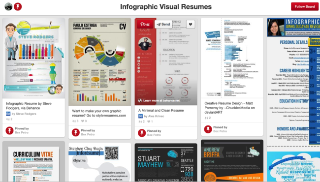 Infographic Resumes Pinterest Board