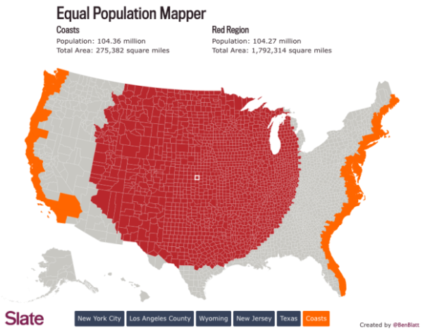 Equal Population Mapper Interactive Infographic