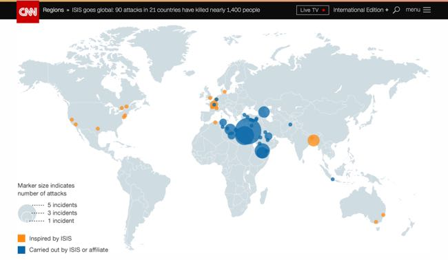 CNN ISIS Goes Global Incident Map Bad DataViz