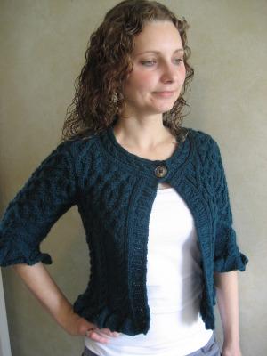 CROPPED CARDIGAN SWEATER KNITTING PATTERN | Free Knitting Patterns