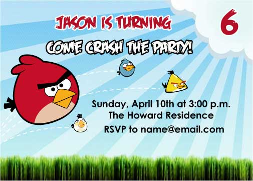from these hands Journal Angry Birds The Party – Angry Birds Party Invitations
