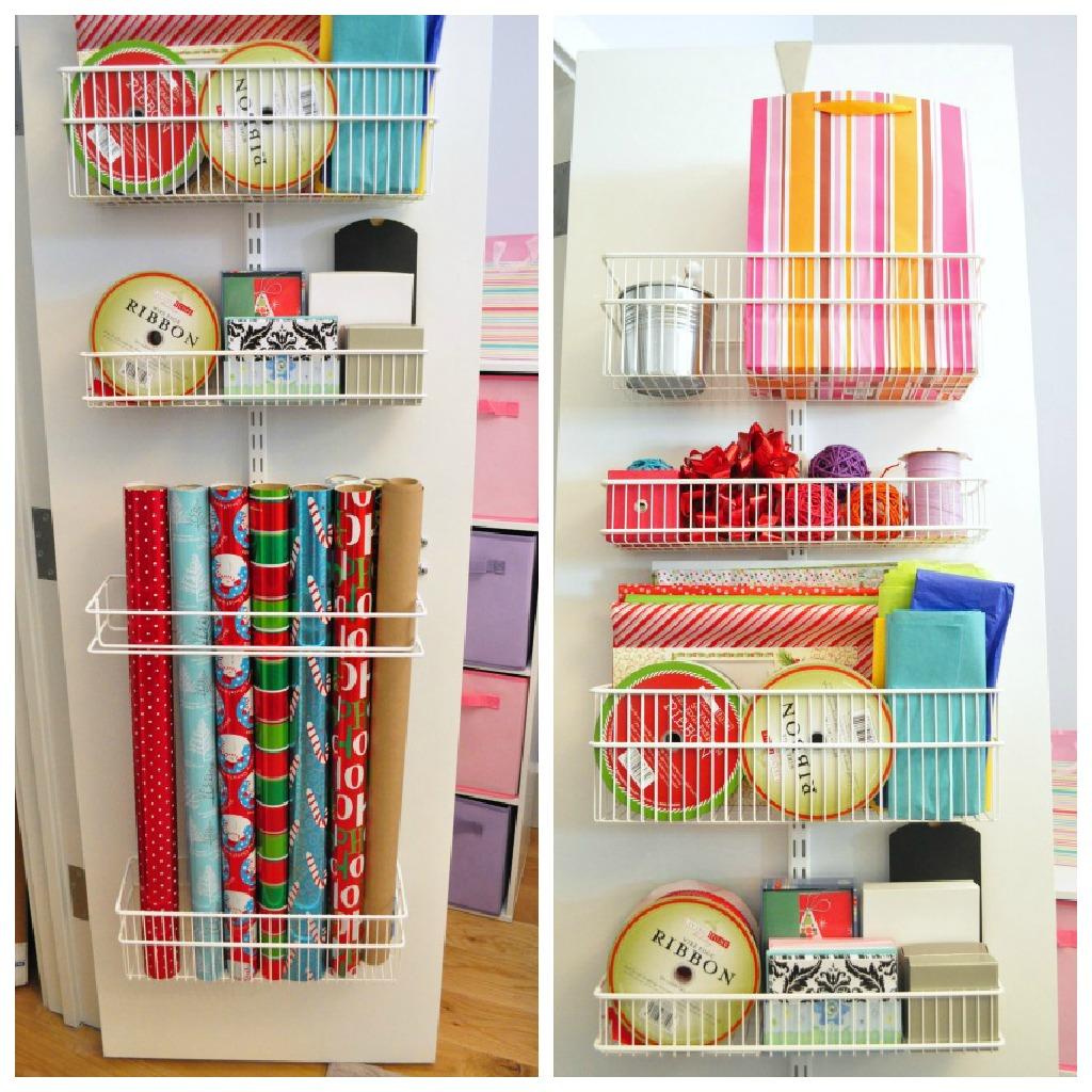Lovely Over The Door Gift Wrap Storage Photo Album Homeas
