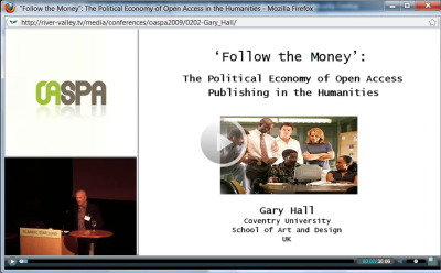Gary Hall - Media gifts - 'Follow the money': the political