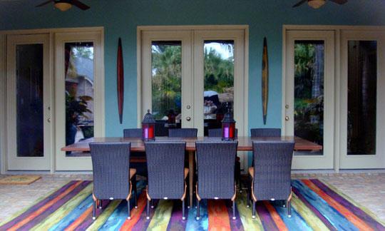 Liora Manne Denim Strip Luxury Outdoor Rug At Home Infatuation Blog