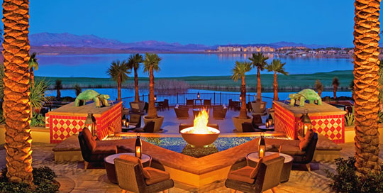 Loewes Lake Las Vegas Luxury Hotel Fire Pits at Home Infatuation Blog