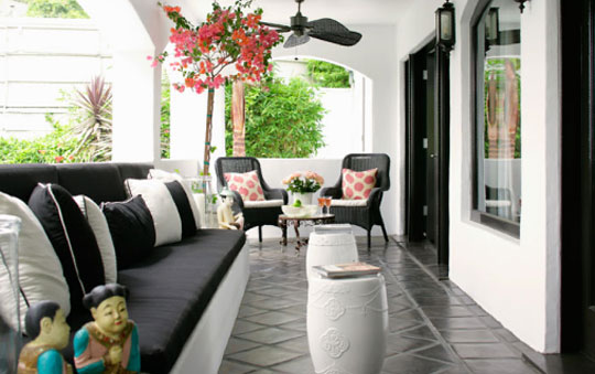 Kashini Perera Jean Randazzo Cheery Black Luxury Front Porch at Home Infatuation Blog