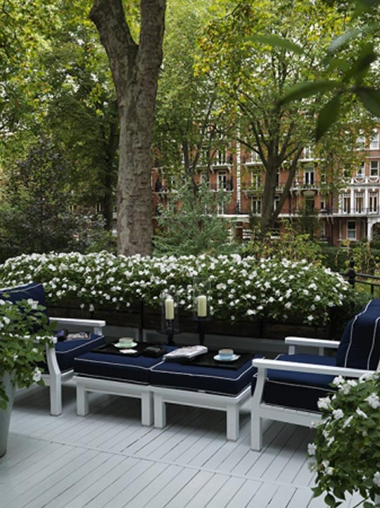David Collins Formal Black Luxury Outdoor Space at Home Infatuation Blog