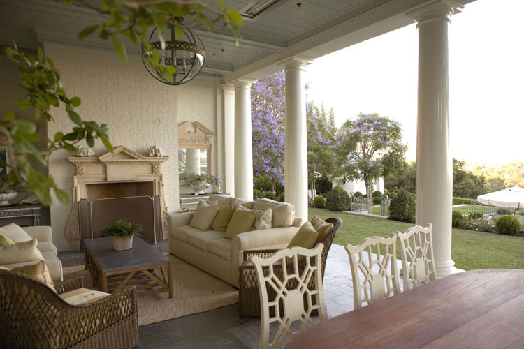 Design 101 the formal loggia home infatuation blog for Luxury outdoor living