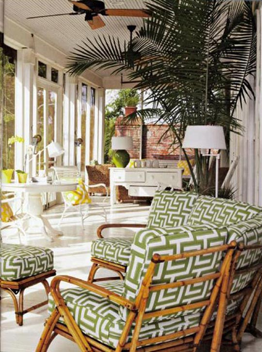Coastal Living Eclectic Enclosed Porch at Home Infatuation Blog