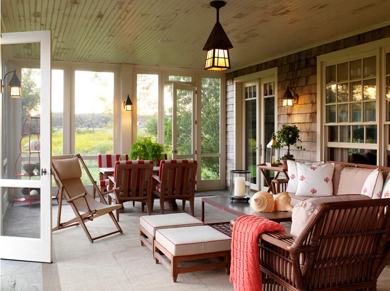 David Scott Contemporary Twist on a Classic Enclosed Porch at Home Infatuation Blog